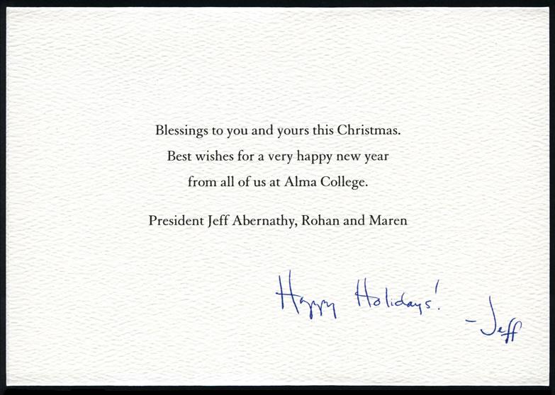 Custom writing company holiday cards